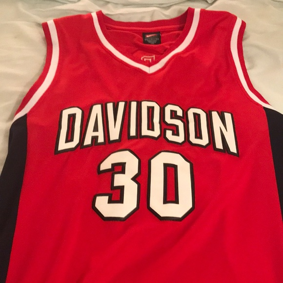 new products bb0d6 5a557 Stephen Curry Davidson Jersey